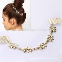 Modische Brötchen Ornament 5 Blätter verschiedene Arten benutzerdefinierte Bulk Haare Kämme