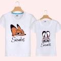 Moda de impresión al por mayor de encargo amantes del algodón camiseta