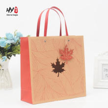 White card board paper with printed color gift shooping tote bag