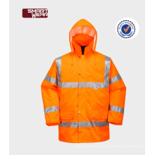 OEM laranja impermeável hi vis uniformes construção profissional workwear