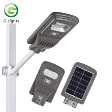 All in one 6 10 12 15 20 w integrated motion sensor smart ip65 outdoor waterproof led solar road light