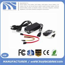SATA / PATA / IDE al cable del convertidor del adaptador del USB 2.0 para la impulsión dura de 2.5 / 3.5 pulgadas