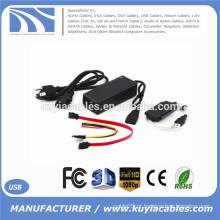 Adaptador SATA / PATA / IDE para USB 2.0 Cabo conversor para 2,5 / 3,5 polegadas de disco rígido