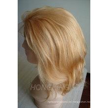Peluca llena del cordón del cabello rubio remy 100% humano para la venta