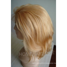100% human remy blond hair full lace wig for sale
