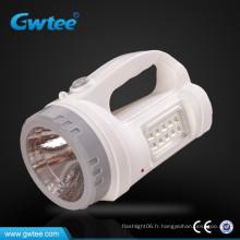 Torche de recherche rechargeable portable ultra lumineux avec lumière latérale