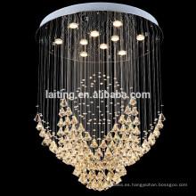 Nueva lujo de diamantes bolas de cristal casa arañas 92034