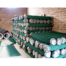 PVC Coated Green color chain link fence
