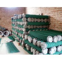 PVC revestido da cor verde link link da cadeia