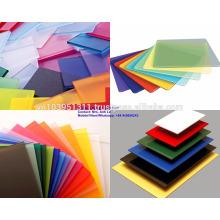 Herstellung nach Kundenwunsch Ebenheit, Glanz Solide Polystyrolplatte für Werbebanner