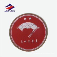Pop sports round nickel plated runner clothes badge