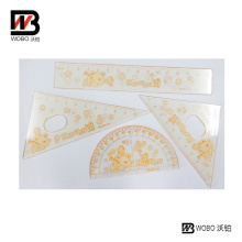 Cartoon Animal Plastic Ruler Set for Office Stationery