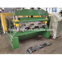 Calidad Buena Precio Galvanizado Acero Metal Piso Piso Hoja Panel Plat Roll Formando Máquina