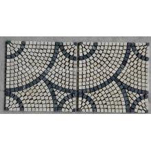 Mosaïque en pierre de marbre pour plancher (HSM217)