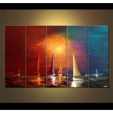 Seascape Sailing Boat Oil Painting