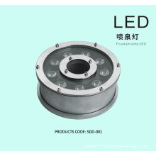 9W 12w Round shape RGB led fountain light AC24V, AC12V