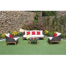 Ensemble de couchage en rotin synthétique design moderne et vendu le plus réputé pour meubles extérieurs de jardin