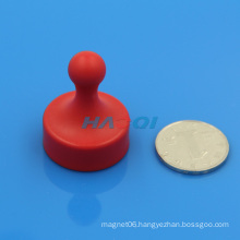 Office plastic coated Magnetic Push Pin