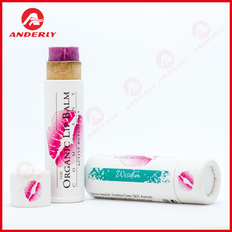 Eco Lip Balm Packaging Push up Paper Tube