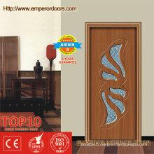 Porte en verre en PVC de porte de PVC de porte de chambre à coucher en verre