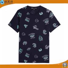 Camisetas al por mayor de los hombres del cuello redondo Camisetas impresas moda del algodón