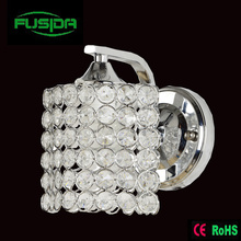 One or Two Lamps Crystal Chrome Square Wall Lamp