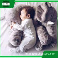 Promotional custom Baby Children Kids body Sleep soft Plush Elephant Pillow Toy