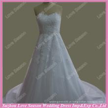 RP0070 Fábrica de casamento real vestido de renda contas 2014 quente venda dolce cetim vestido de noiva casamento vestido de casamento de cristal amostra real