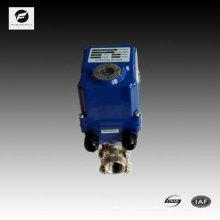 Válvula de bola motorizada plástica del puerto lleno bidireccional CTF-001 para el control automático, tratamiento de aguas