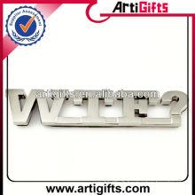 Emblèmes de lettre auto en métal d'approvisionnement d'usine
