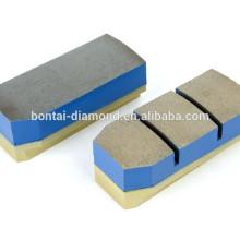 Diamante fickert bloque de pulido de metal para mármol, granito en la rectificadora automática