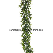 PE Boxwood Garland Artificial Plant for Home Decoration with SGS Certificate (48099)