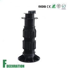Adjustable Plastic Pedestal for Raised Outdoor Floor Support