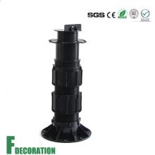 Pedestal de plástico ajustável para suporte de piso ao ar livre