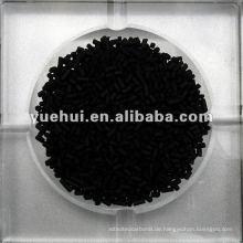 2,0 mm Zylindrische Aktivkohle auf Kohlebasis für Katalysatorträger oder Katalysator ZZ20