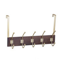 5 Double Hooks With Wooden Base