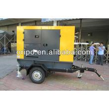 Silencioso 62.5kva / 50kw gerador diesel portátil com gerador elétrico magnético
