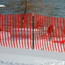 orange plastic safety fence/plastic warning net/white snow fence