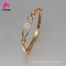 Foxi último diseño de moda joyas de oro de las mujeres de color CZ brazaletes
