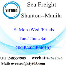 Shantou Port Sea Freight Shipping To Manila