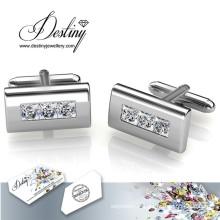 Destin bijoux cristal de Swarovski boutons de manchette rectangulaire