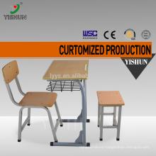 Modern school adjustable school desk and chair / school furniture