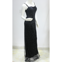 Stunning Bling Crystal slim strap evening dress women