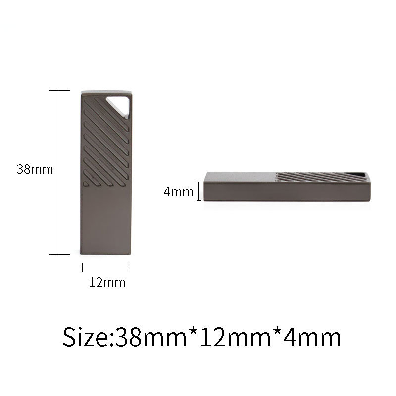 Silver Zinc Alloy USB Stick