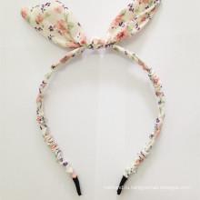 Блондинка цвета ткани Кролик ухо Проводная головная повязка