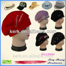 New design fashion Ladies Hats cap elegant wool hat for women ,LSW43