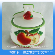 Cocina creativa de cerámica de manzana condimentos especias jarras al por mayor