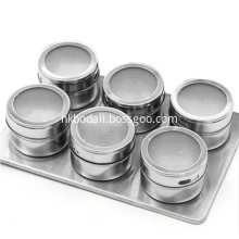 Round Seasoning Storage Container Can Stainless Steel