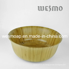 Tazón de fuente de la ensalada de la cocina de bambú carbonizada