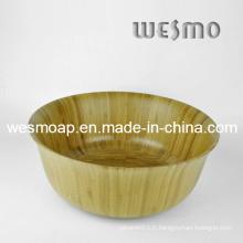 Bol de salade de cuisine en bambou carbonisé